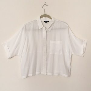 Topshop - Super soft and relaxed white shirt.